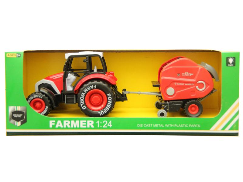 Farmer tractor metal car toy pull back car