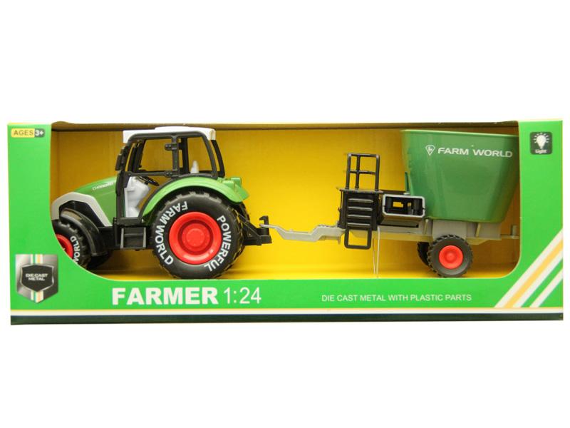 Farmer car diecast car toy pull back tractor
