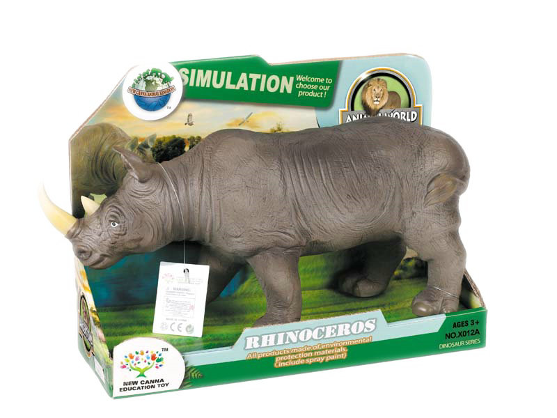 Rhino toy black animal toy figure toy