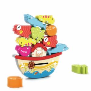 Balance block sea animals cartoon toys