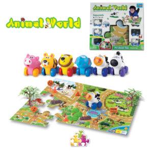 Animal cars cartoon toys vehicle set