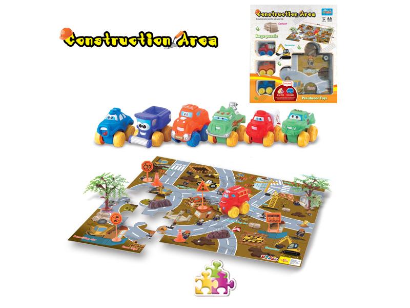 Cartoon car free wheel car toy set