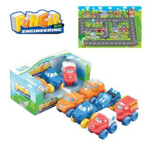 Cartoon vehicle free wheel car toy car