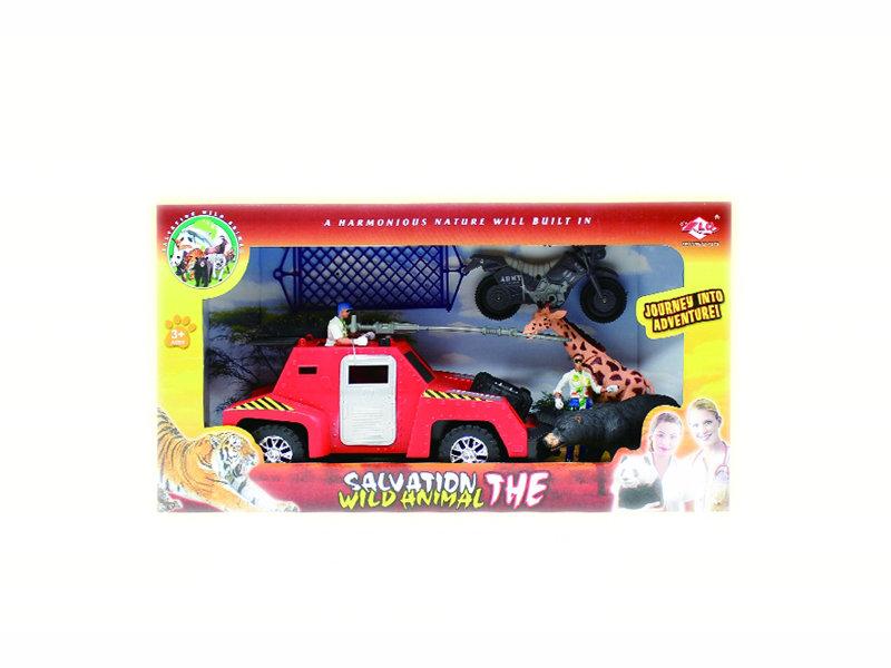 Animal saving set toy wildlife plastic toy