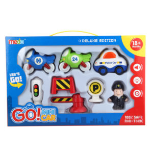 Toy motorcycle friction set toy car with light and music
