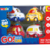Cartoon toys mini car toy vehicle with light and music