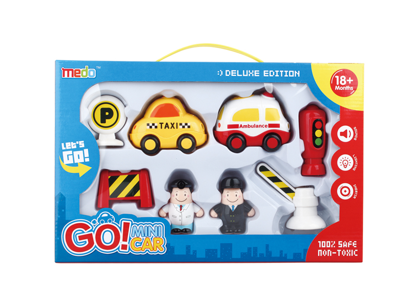 Toys vehicle mini car cartoon toy with light and music