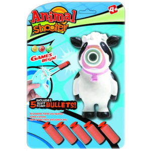 Cow shooter vinyl animal toy outdoor toy