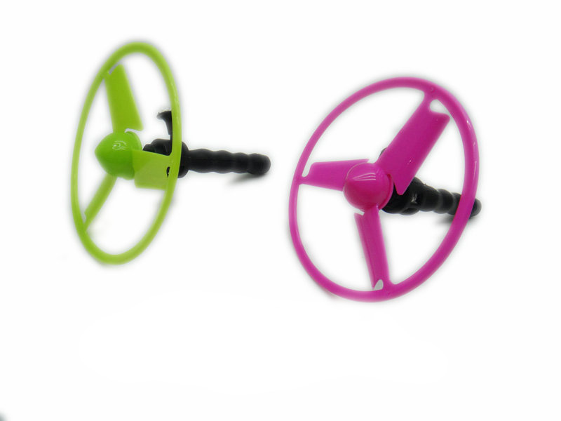 Pulling string flying disc plastic flying disc toy