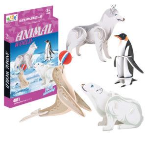 Antartica animals puzzle 3D puzzle toy intelligent toy