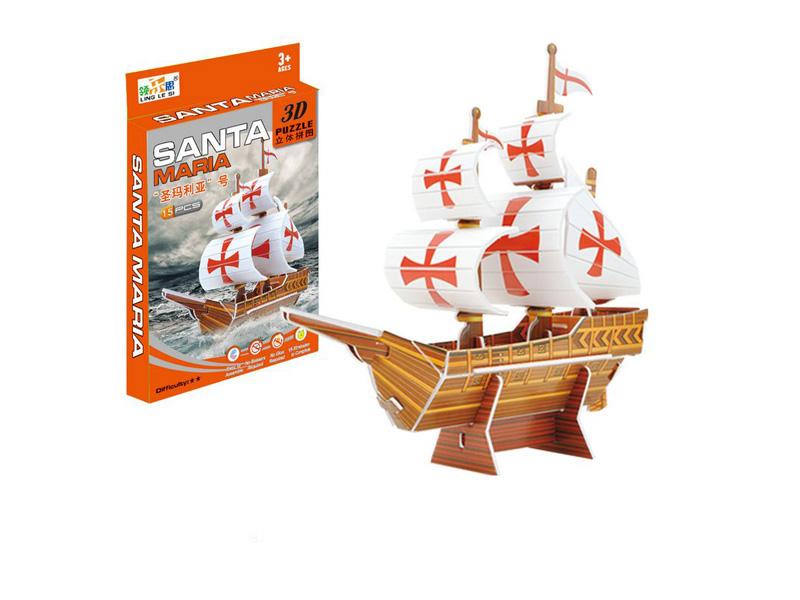 3D boat puzzle toy puzzle intelligent toy