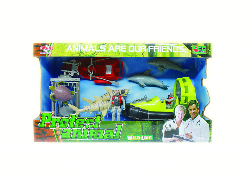 Protect animal toy rescue set ocean toy