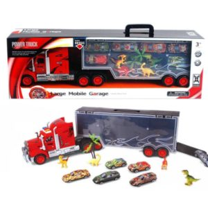 Container truck toy metal car dinosaur toy