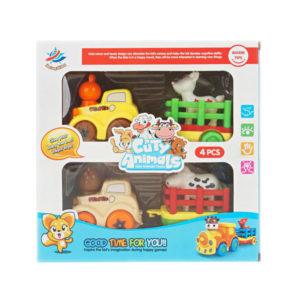 Cartoon vehicle animal toy friction car