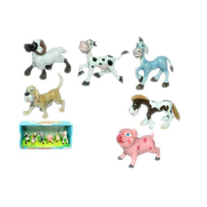 Farm animals cute toy cartoon set