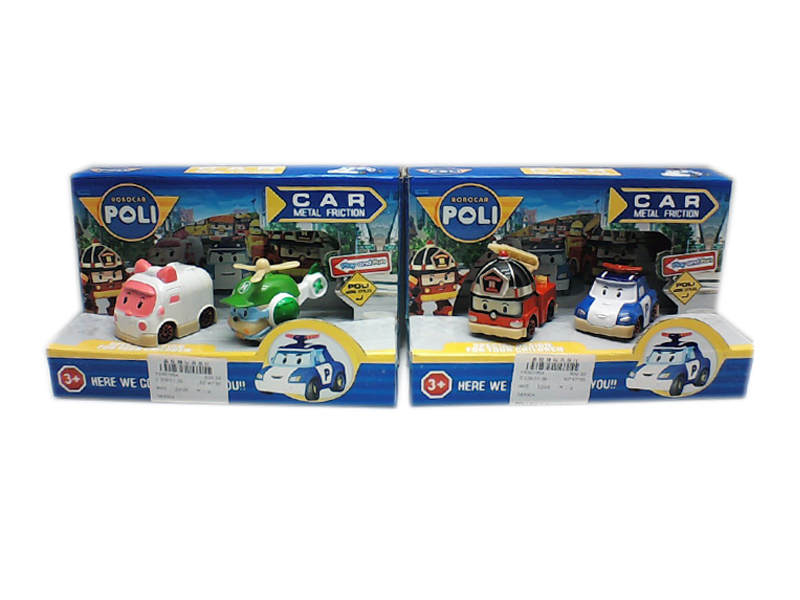 Police vehicle freewheel toy metal car