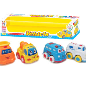 Friction vehicles toy cars cartoon set