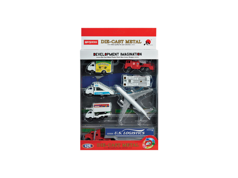Diecast car airport set plane toy series
