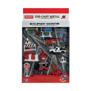 Diecast vehicle police set car toy