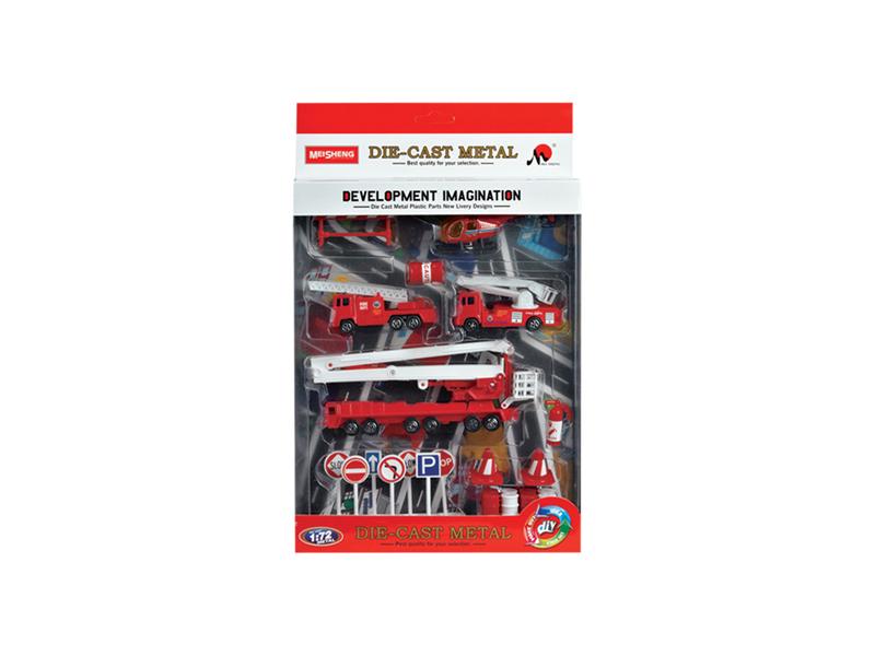 Fire engine set metal vehicle car set toy