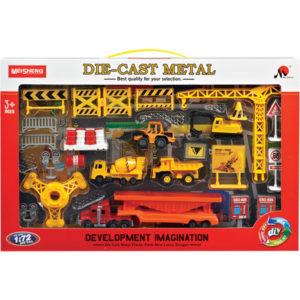 Diecast toy construction set car toy set