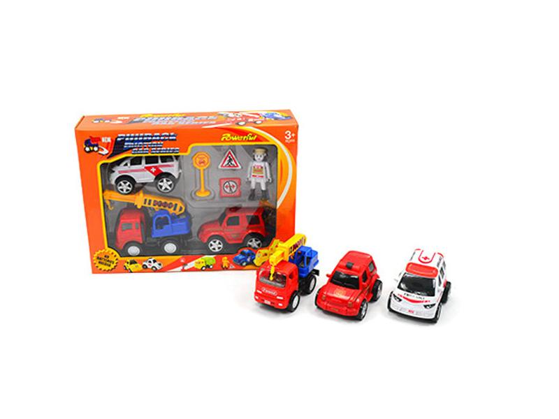 Toy vehicle pull back car toy set
