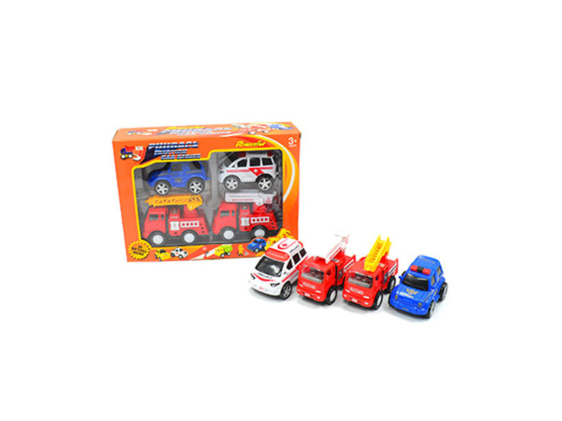 Engineering car toy vehicle pull back toy