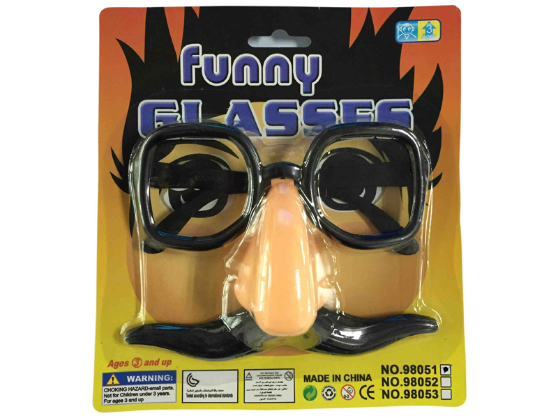 Toy glasses mask glasses mustache and glasses