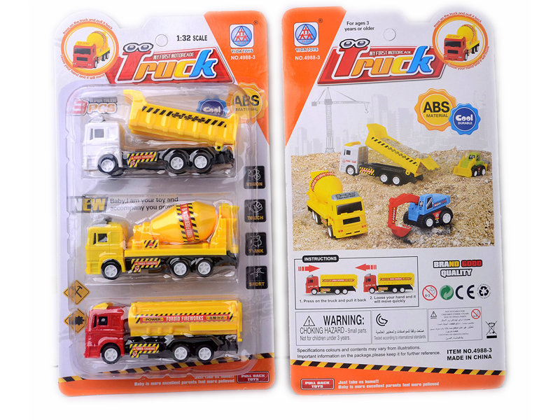 Toy truck pull back car engineering vehicle