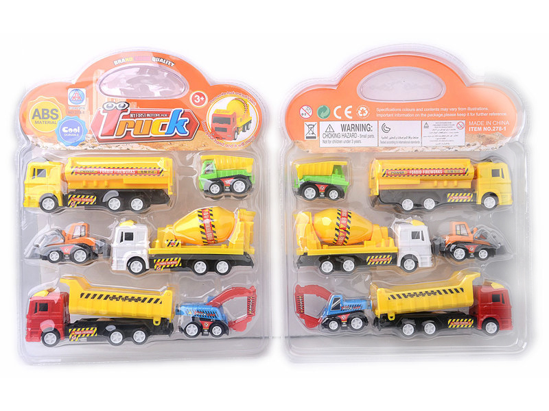 Engineering truck toy vehicle pull back toy