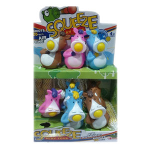 Shooting horse animal toy squeeze popper toy