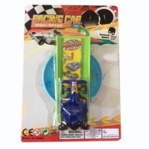 Racing car launcher small car with track