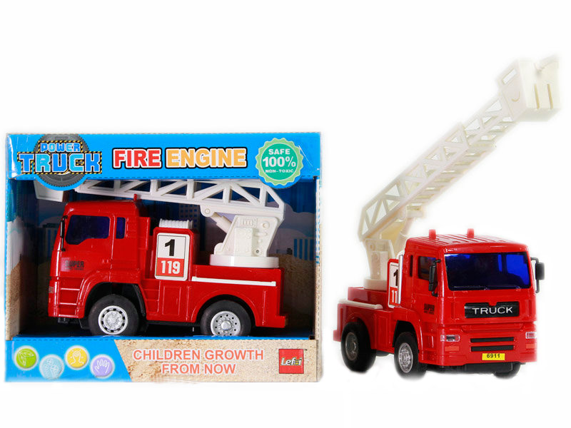 Friction power car fire engine vehicle toy