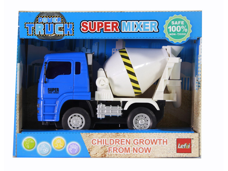 Friction power car mixer truck city vehicle toy