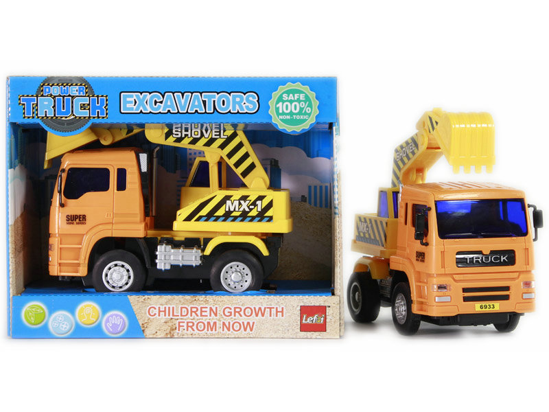 Friction power car excavator toy engineering car
