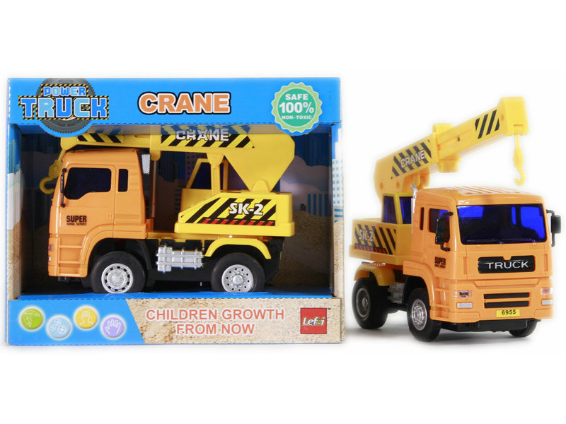 Crane toy friction power car engineering car toy