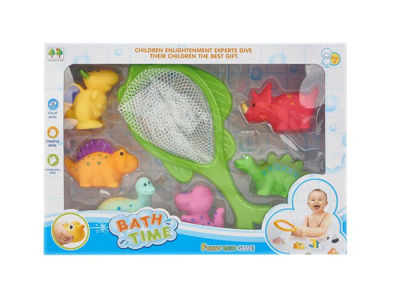 Bath toy set animals toy fish net toy