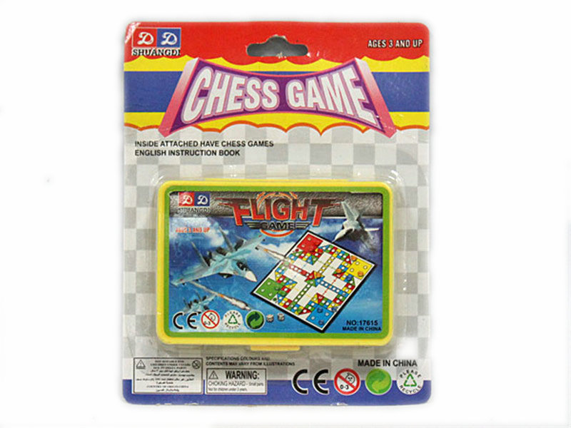 Aeroplane chess board game promotion toy
