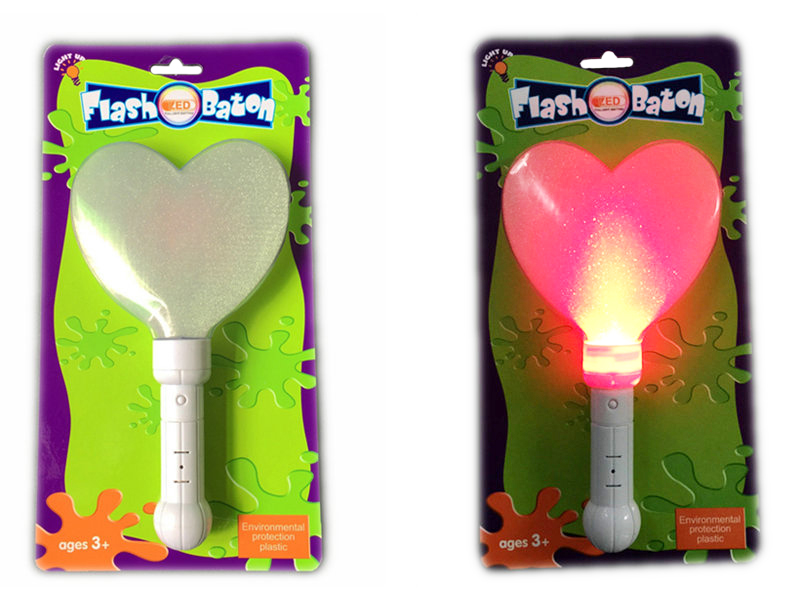 Heart shape baton flash wand funny toy
