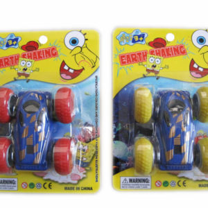Cute vehicle friction toy double side car