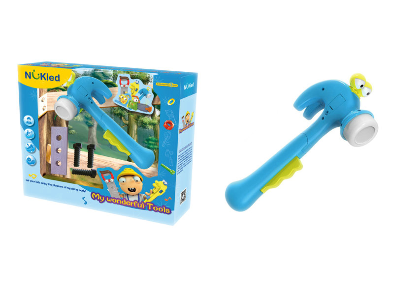 Hammer toy tool toy battery option toy