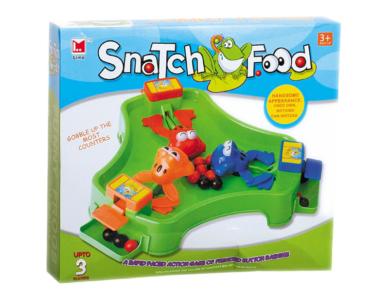 Snatch food frog toy game toy