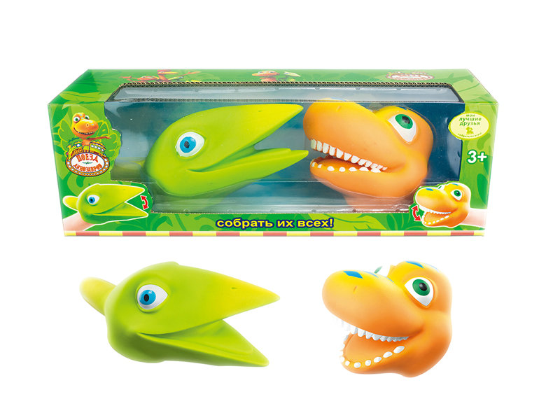 Vinyl puppet dinosaur toy pretending play toy