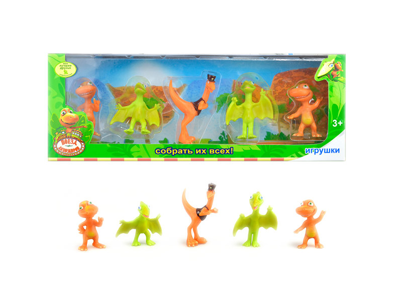 Cartoon dinosaur hard body toy animal toy