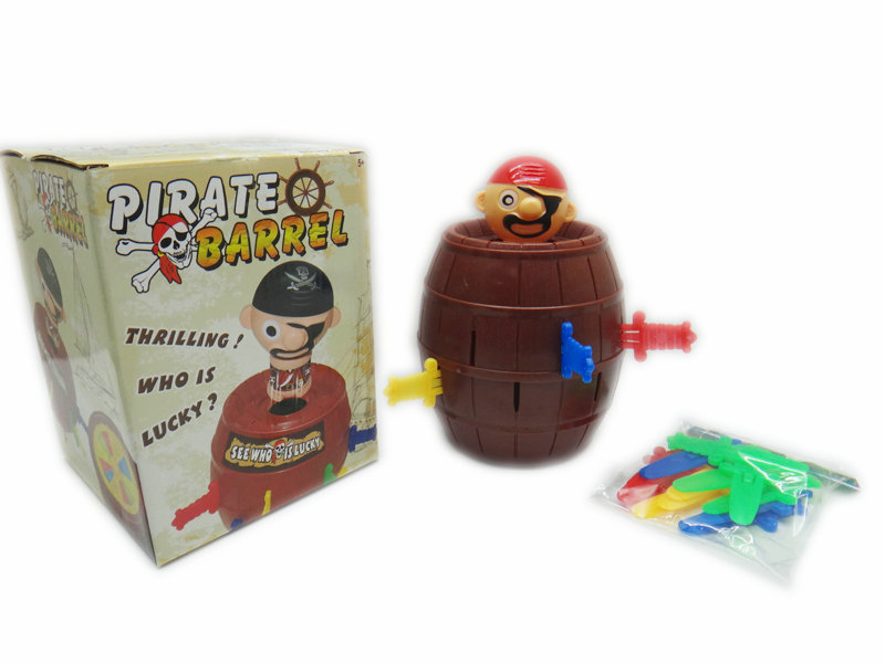 Pirate barrel game toy interesting toy