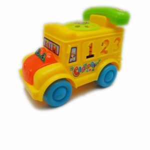 Cartoon vehicle telephone toy pull along toy