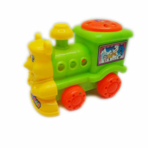 Cartoon train pull along toy plastic toy