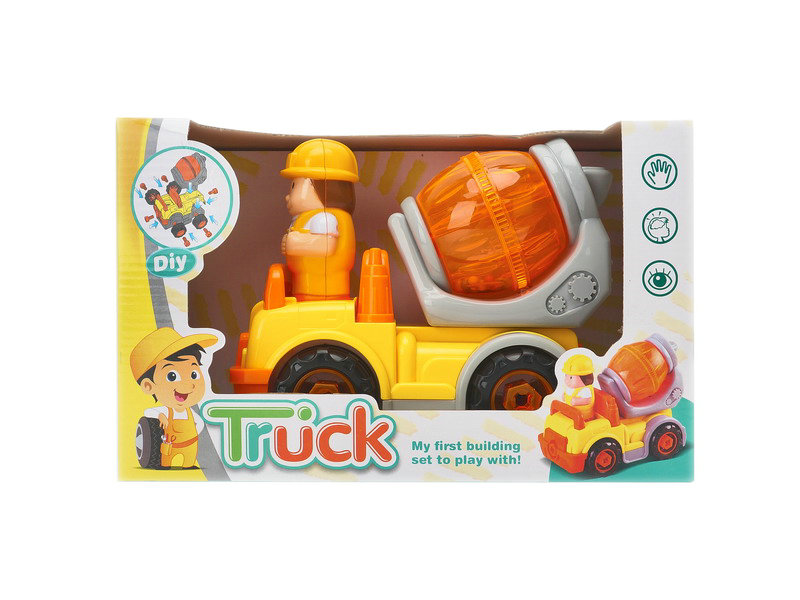 plastic truck toy DIY truck engineering truck toy