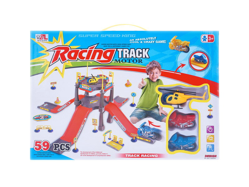 Friction railway car racing track motor funny game toy