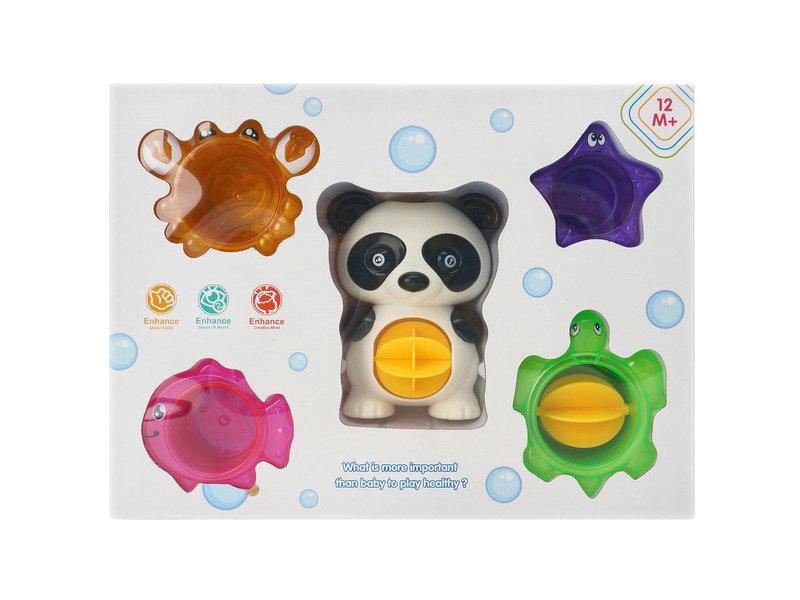 Cartoon bath toy plastic stacked cup toy bath toy
